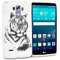 LG G Vista 2 White Tiger TPU Design Soft Rubber Case Cover Angle 1
