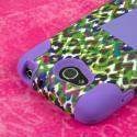 LG Optimus L90 - Purple Rainbow Leopard MPERO IMPACT X - Kickstand Case Angle 6