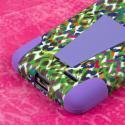 LG Optimus L90 - Purple Rainbow Leopard MPERO IMPACT X - Kickstand Case Angle 7