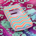 Kyocear Coast/ Kona - Mint Chevron MPERO SNAPZ - Rubberized Case Cover Angle 2