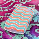 Kyocear Coast/ Kona - Mint Chevron MPERO SNAPZ - Rubberized Case Cover Angle 3