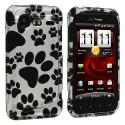 HTC Droid Incredible 2 6350 Dog Paw Design Crystal Hard Case Cover Angle 1