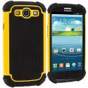 Samsung Galaxy S3 Yellow Hybrid Rugged Hard/Soft Case Cover Angle 2