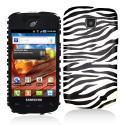 Samsung Proclaim S720C Black/White Zebra Hard Rubberized Design Case Cover Angle 1