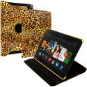 Amazon Kindle Fire HDX 8.9 Yellow Leopard 360 Rotating Leather Pouch Case Cover Stand Angle 1