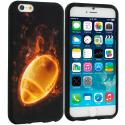Apple iPhone 6 Plus 6S Plus (5.5) Flaming Football TPU Design Soft Rubber Case Cover Angle 1