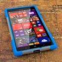 Nokia Lumia 1520 - Blue / Gray MPERO IMPACT X - Kickstand Case Cover Angle 2