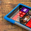 Nokia Lumia 1520 - Blue / Gray MPERO IMPACT X - Kickstand Case Cover Angle 5