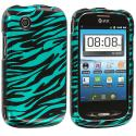 ZTE Avail Z990 Black / Baby Blue Zebra Design Crystal Hard Case Cover Angle 1