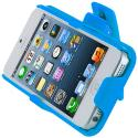 Apple iPhone 5/5S/SE Baby Blue Hard Rubberized Belt Clip Holster Case Cover Angle 9