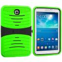 Samsung Galaxy Tab 3 7.0 Neon Green / Black Hybrid Hard/Silicone Case Cover with Stand Angle 2