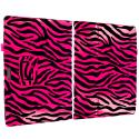 Microsoft Surface Pro 3 Hot Pink Zebra Folio Pouch Flip Case Cover Stand Angle 2