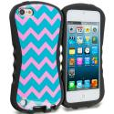 Apple iPod Touch 5th 6th Generation Pink Wave Hybrid TPU Hard Soft Shockproof Drop Proof Case Cover Angle 1