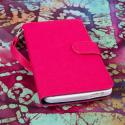 HTC One Max T6- HOT PINK/ NAVY BLUE MPERO FLEX FLIP Wallet Case Cover Angle 2
