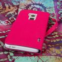 HTC One Max T6- HOT PINK/ NAVY BLUE MPERO FLEX FLIP Wallet Case Cover Angle 3