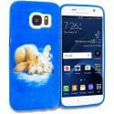 Samsung Galaxy S7 Edge Polar Bear TPU Design Soft Rubber Case Cover Angle 1