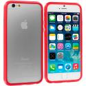Apple iPhone 6 Plus 6S Plus (5.5) Red TPU Bumper Frame with Metal Buttons Angle 2