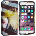 Apple iPhone 6 Plus 6S Plus (5.5) USA Eagle 2D Hard Rubberized Design Case Cover Angle 1