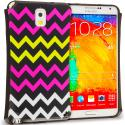 Samsung Galaxy Note 3 N9000 Hot Pink Wave Hybrid TPU Hard Soft Shockproof Drop Proof Case Cover Angle 1