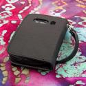 ZTE Aspect - Black MPERO FLEX FLIP Wallet Case Cover Angle 3