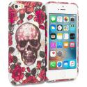 Apple iPhone 5/5S/SE Gorgeous Skull TPU Design Soft Rubber Case Cover Angle 1