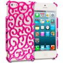Apple iPhone 5/5S/SE Hot Pink Floral Crystal Hard Back Cover Case Angle 1