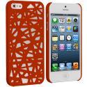 Apple iPhone 5/5S/SE Orange Birds Nest Hard Rubberized Back Cover Case Angle 1