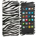 Amazon Fire Phone Black / White Zebra Hard Rubberized Design Case Cover Angle 1