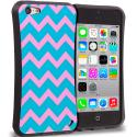 Apple iPhone 5C Pink Wave Hybrid TPU Hard Soft Shockproof Drop Proof Case Cover Angle 1