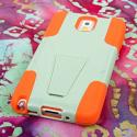 Samsung Galaxy Note 3 - Coral/ Mint MPERO IMPACT X - Kickstand Case Cover Angle 3