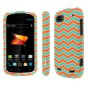 ZTE Warp Sequent - Mint Chevron MPERO SNAPZ - Rubberized Case Cover Angle 1