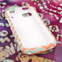 ZTE Warp Sequent - Mint Chevron MPERO SNAPZ - Rubberized Case Cover Angle 2