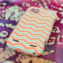 ZTE Warp Sequent - Mint Chevron MPERO SNAPZ - Rubberized Case Cover Angle 3