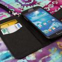 Samsung Galaxy S4 I9500 I905 L720 - Black MPERO FLEX FLIP Wallet Case Cover Angle 4