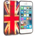 Apple iPhone 5/5S/SE The Union Flag TPU Design Soft Rubber Case Cover Angle 1