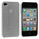 Apple iPhone 4 / 4S Silver Electroplated Mesh Case Cover Angle 1