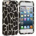 Apple iPod Touch 5th 6th Generation Black Giraffe Hard Rubberized Design Case Cover Angle 1