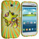 Samsung Galaxy S3 Superstar Hard Rubberized Design Case Cover Angle 1