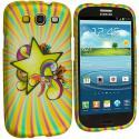 Samsung Galaxy S3 Superstar Hard Rubberized Design Case Cover Angle 2