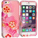 Apple iPhone 6 6S (4.7) Pink Fairy Tale 2D Hard Rubberized Design Case Cover Angle 1