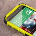 HTC One M8/ M8- NEON GREEN MPERO IMPACT SR - Kickstand Case Cover Angle 5