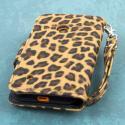 Nokia Lumia 530 - Studded Leopard MPERO FLEX FLIP Wallet Case Cover Angle 3