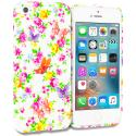 Apple iPhone 5 Colorful Flower TPU Design Soft Rubber Case Cover Angle 1
