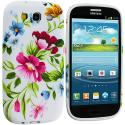 Samsung Galaxy S3 Flower Painting TPU Design Soft Case Cover Angle 2