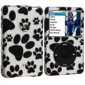 Apple iPod Classic Dog Paw Hard Rubberized Design Case Cover Angle 1