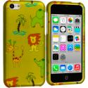 Apple iPhone 5C Zoo Hard Rubberized Design Case Cover Angle 1