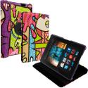 Amazon Kindle Fire HDX 8.9 Graffiti 360 Rotating Case Cover Pouch Stand Angle 1