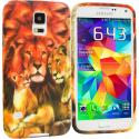 Samsung Galaxy S5 Lion TPU Design Soft Case Cover Angle 1