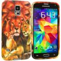 Samsung Galaxy S5 Lion TPU Design Soft Case Cover Angle 2