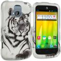ZTE Radiant Tiger 2D Hard Rubberized Design Case Cover Angle 1